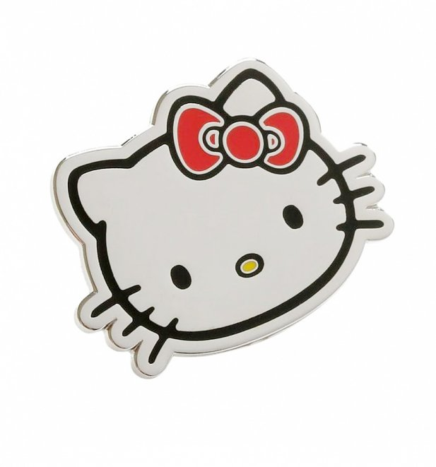 Hello Kitty Classic Silver Enamel Pin from Punky Pins