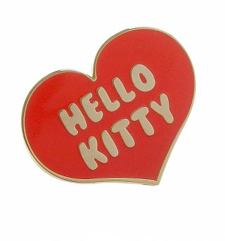 Hello Kitty Heart Enamel Pin from Punky Pins