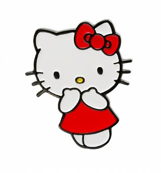 Hello Kitty Red Dress Enamel Pin from Punky Pins