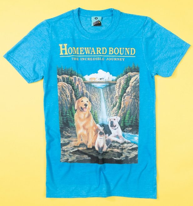 Homeward Bound Movie Poster Blue T-Shirt