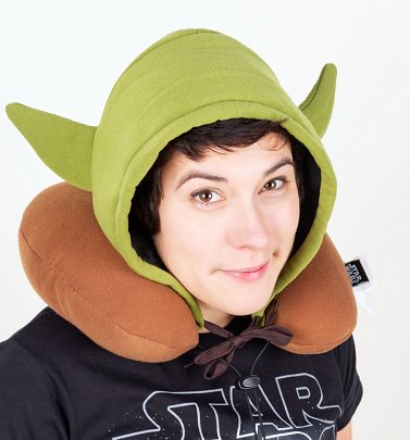 Hooded Yoda Travel Neck Pillow