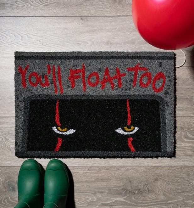 IT Pennywise You'll Float Too Door Mat
