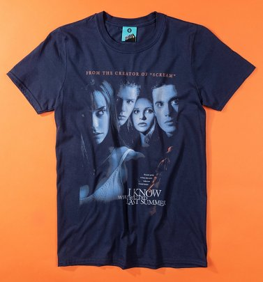 I Know What You Did Last Summer Movie Poster Navy T-Shirt