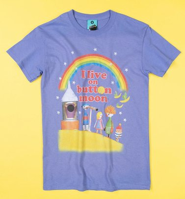 I Live On Button Moon Violet T-Shirt