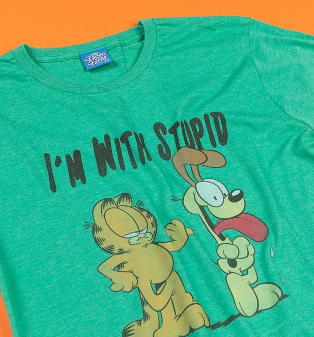 I'm with Stupid Garfield and Odie T-Shirt