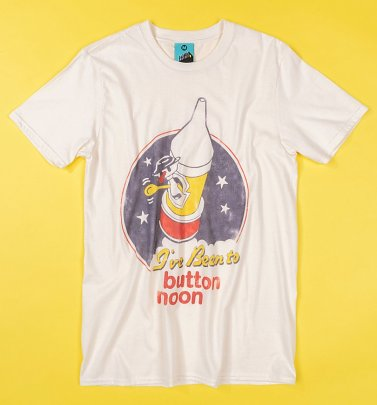I've Been To Button Moon Ecru T-Shirt