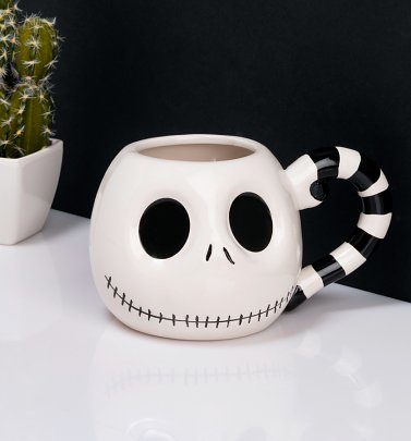 Jack Skellington Head Nightmare Before Christmas Mug