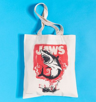 Jaws Canvas Tote Bag