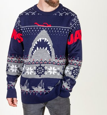 Jaws Knitted Christmas Jumper
