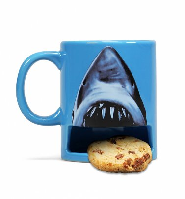 Jaws Mug with Biscuit Holder