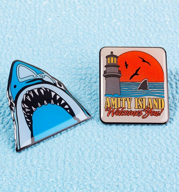 Jaws Pin Badge Set