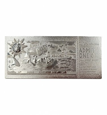 Jaws Silver Plated Amity Island Regatta Limited Edition Collectable Ticket