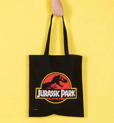 Jurassic Park Logo Canvas Tote Bag