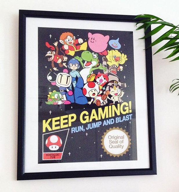 Keep Gaming 11x14 Framed Art Print
