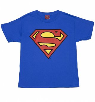 Kids Blue DC Comics Superman Shield T-Shirt