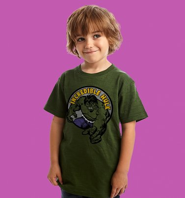 Kids Green Incredible Hulk T-Shirt from Fabric Flavours