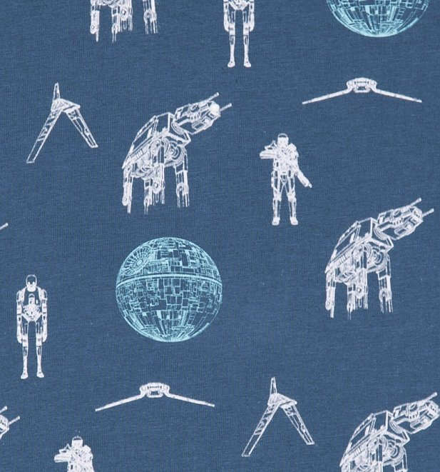 Kids Star Wars Rogue One Repeat Print T-Shirt from Fabric Flavours