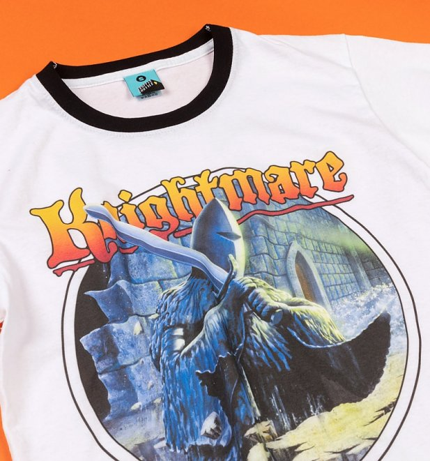 Knightmare Armoured Knight White And Black Ringer T-Shirt