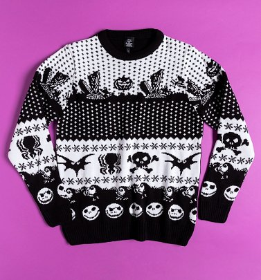 Knitted Disney Nightmare Before Christmas Fairisle Christmas Jumper