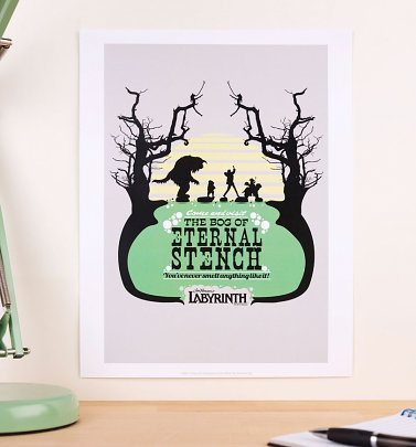 "Labyrinth Bog Of Eternal Stench 11"" X 14"" Art Print"