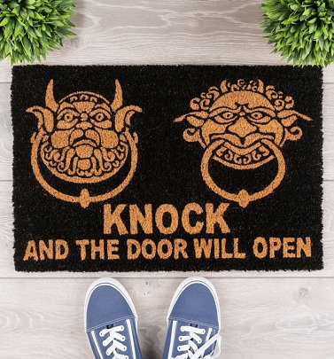 Labyrinth Door Knockers Door Mat