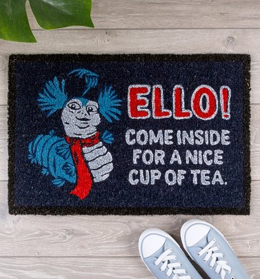 Labyrinth Worm Come Inside For A Cup Of Tea Door Mat