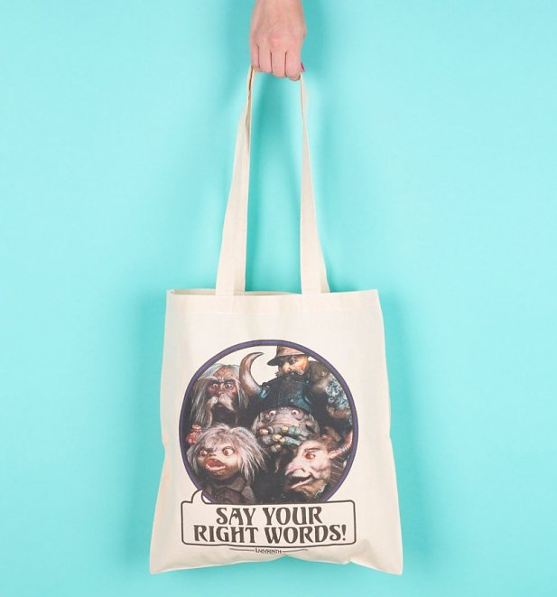 Labyrinth Goblins Say Your Right Words Tote Bag