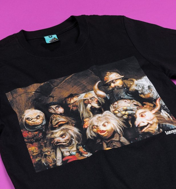 Labyrinth Goblins Screenshot Black T-Shirt