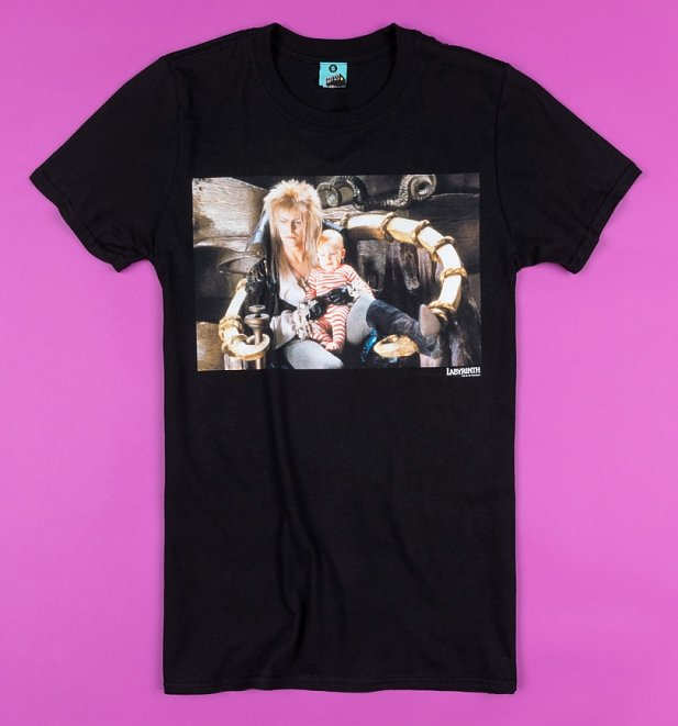 Labyrinth Jareth And Toby Screenshot Black T-Shirt