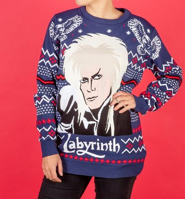 Labyrinth Jareth Knitted Christmas Jumper
