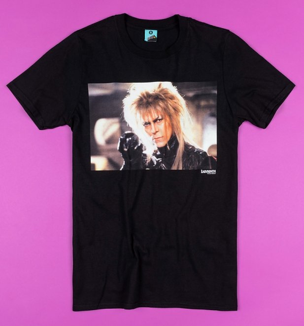 Labyrinth Jareth Screenshot Black T-Shirt