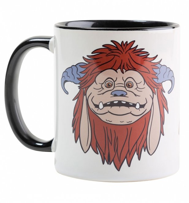 Labyrinth Ludo Black Handle Mug