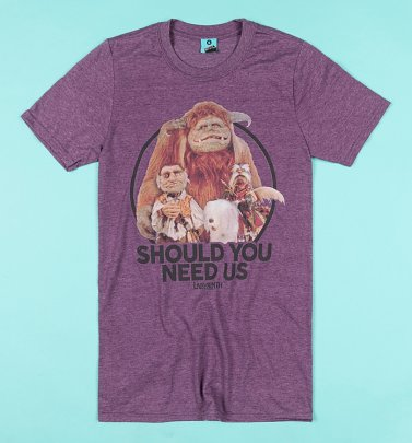 Labyrinth Should You Need Us Purple Marl T-Shirt