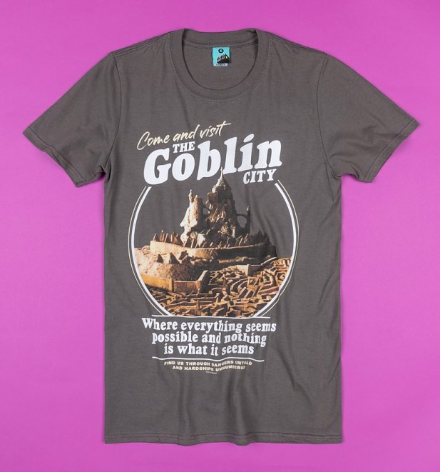 Labyrinth Visit The Goblin City Charcoal T-Shirt