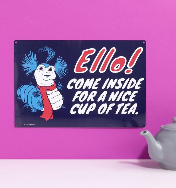 Labyrinth Worm Ello Metal Sign