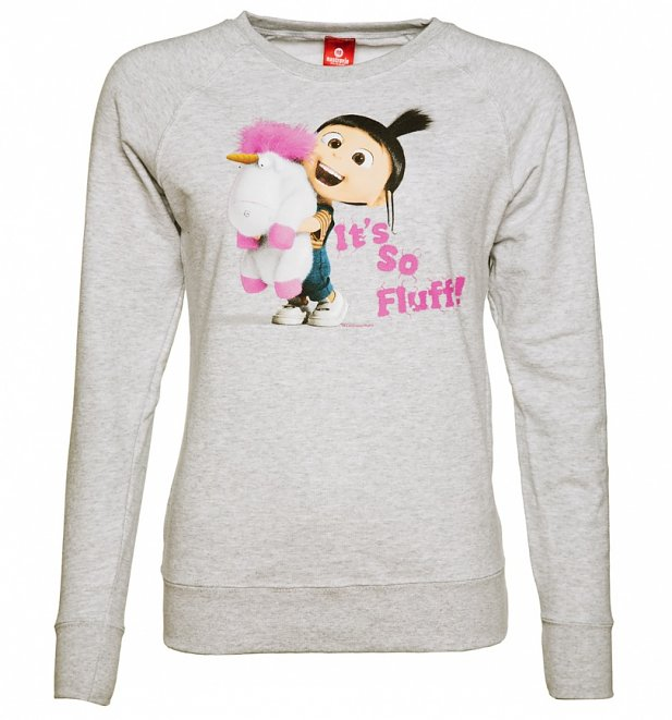 Women's Grey Marl It's So Fluffy Minions Sweater