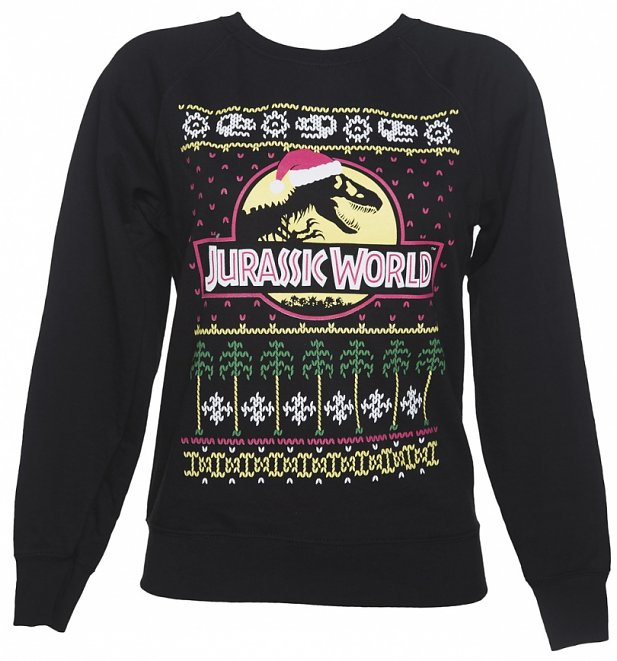 Women's Jurassic World Fair Isle Christmas Jumper