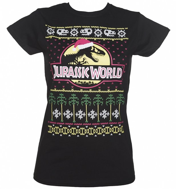Jurassic World Fair Isle Christmas T-Shirt