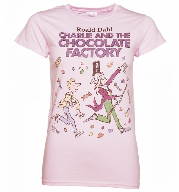 Women's Light Pink Roald Dahl Charlie and the Chocolate Factory T-Shirt