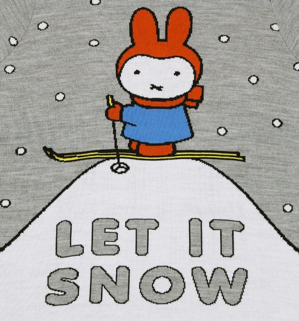 EXCLUSIVE Women's Miffy Let It Snow Knitted Jumper