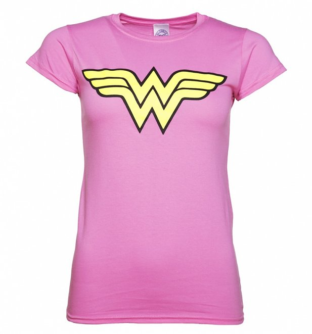 Women's Pink Wonder Woman Logo T-Shirt