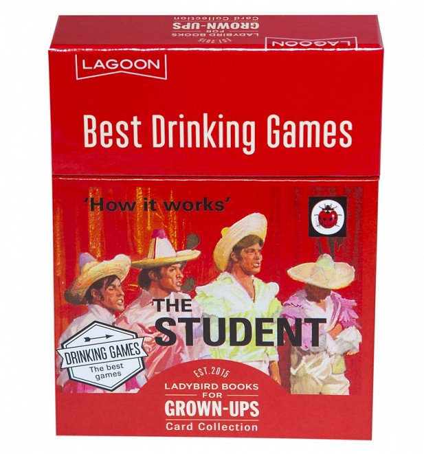 Ladybird Books For Grown Ups The Student Best Drinking Games Card Collection