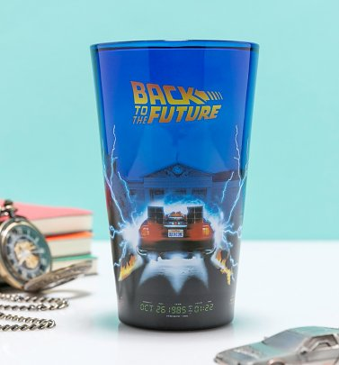 Large Back To The Future Glass