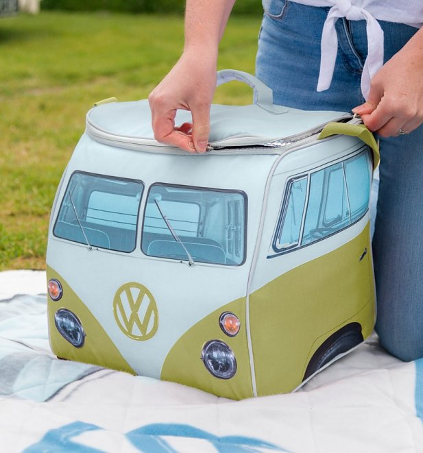 Large Green VW Camper Van Cooler Bag