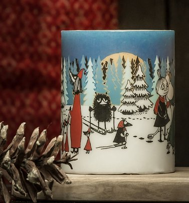Large Moomin Winter Forrest Candle