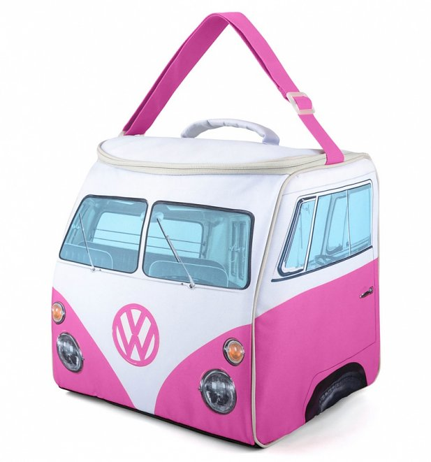 Large Pink VW Camper Van Cooler Bag