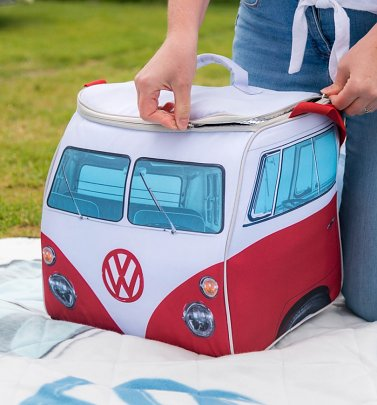 Large Red VW Camper Van Cooler Bag
