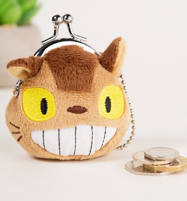 Mini Studio Ghibli Cat Bus Coin Purse Keyring