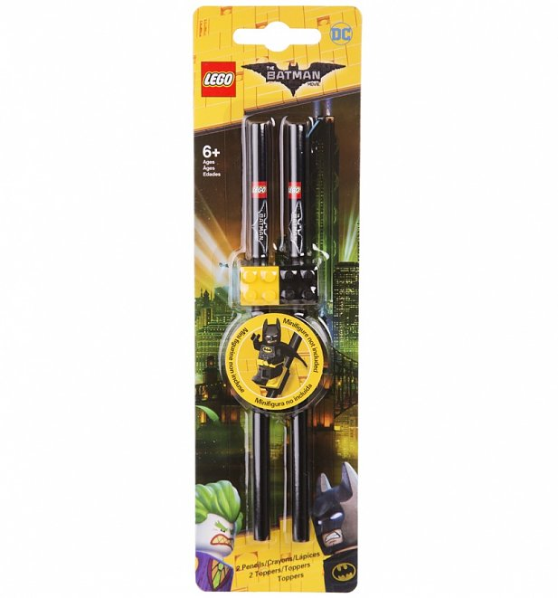 LEGO Batman Set of 2 Pencils with Toppers