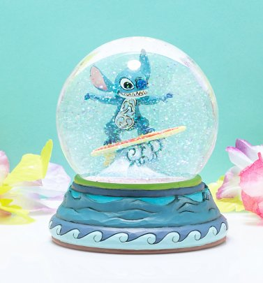 Lilo and Stitch Lilo Surfing Glitter Globe